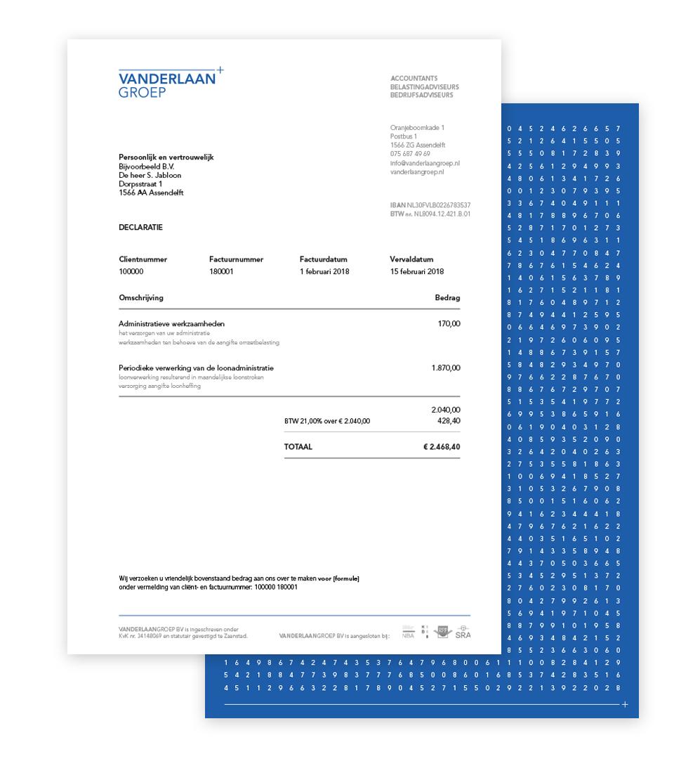 factuur papier vdlg factuurpapier   LassooyDesign BNO